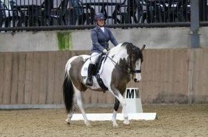 Jo Alderton-Whitworth riding a Dressage Test